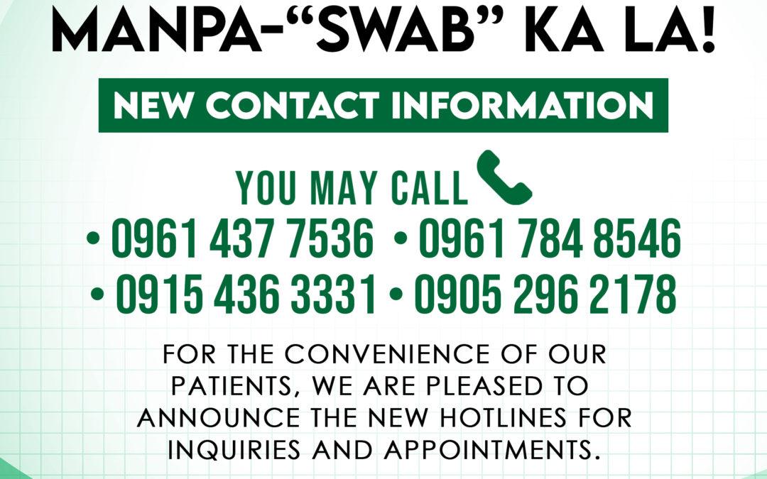 "MANPA-""SWAB"" KA LA! NEW CONTACT INFORMATION"