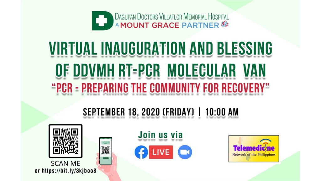 Virtual Inauguration and Blessing of the DDVMH RT-PCR Molecular Van